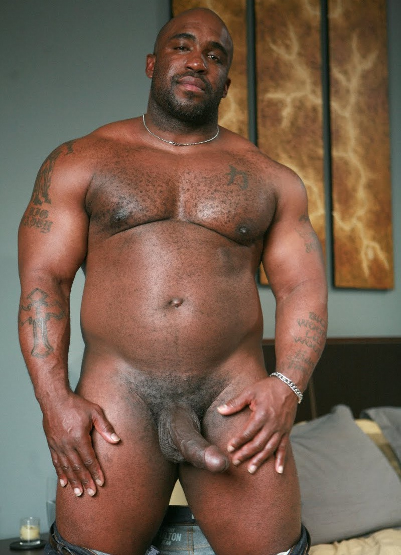 Old white cock black black man